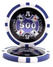 100 Purple $500 Ace Casino 14g Clay Poker Chips New - Buy 2, Get 1 Free