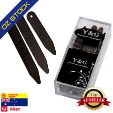 Y&G CS3012 36 Picees Black Stainless Steel Metal Collar Stays (7,6.5,5)