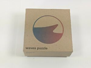 Waves Puzzle Designed By Benjamin Sachs LEVEL 5 Iridescent Acrylic 49 Pcs