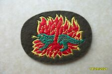 More details for british no. 1 commando patch - rare 1st commandos salamander 'living in fire'