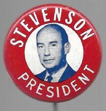 ADLAI STEVENSON FOR PRESIDENT RED, WHITE AND BLUE POLITICAL PIN