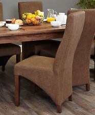 Shiro Brown Dining Chair Full Back Pair of 2