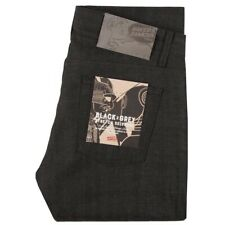 Naked and Famous Selvegde Super Skinny Guy Black X Grey Stretch 36x34