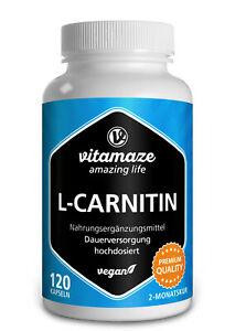 (€25,38/100g) L-Carnitin hochdosiert & vegan, 120 Kapseln, 680 mg pro Tag