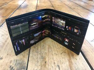 Paul Smith Black leather film strip internal print billfold wallet