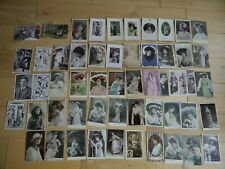 COLLECTION OF 55 VINTAGE POSTCARDS THEATRE STAGE ACTRESSES MOST PRE WAR WWI