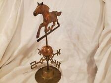 Copper & Brass Horse Weathervane W/ Stand