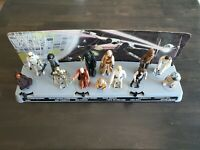 Vintage Star Wars first 12 action figures with Mail Away figure Stand 1978
