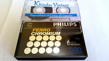 CASSETTE TAPE BLANK - 1 x (one) PHILIPS FERRO CHROMIUM C-90 [1978] (type III)