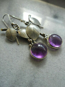 Wholesale 925 Silver Women Leaf Earrings Moonstone Ear Hook Drop Dangle Jewelry