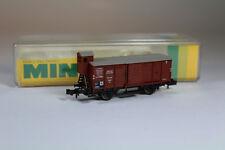 Minitrix 3208 Gedeckter Güterwagen mit Bremserhaus DRG, guter Zustand in OVP