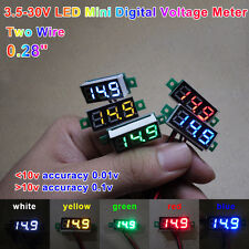 DC3.5V-30.0V 3 Digital LED Volt Voltage Meter Voltmeter 5V 12V 24V Car Battery R