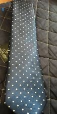 Scott Allan Collection - Men's Blue With White Polka Dots Micro Fibre Tie