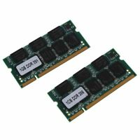2x 1GB 1G Memoria RAM Memoria apra PC2100 DDR CL2.5 DIMM 266MHz 200 pines para o