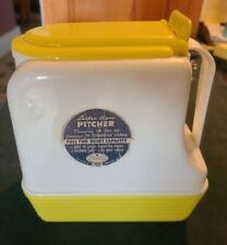 Vintage W/Original Label, Lustro Ware Yellow & White Very Clean Pitcher #L-45