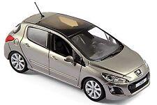 Peugeot 308 Hatchback cinco puertas 2007-11 vapor gris gris metálico 1:43