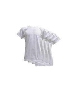 Fontana Calze & Intimo 4 Magliette Manica Corta Scollo Tondo in Jersey di Puro C