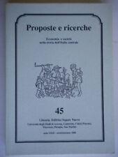proposte e ricerche economia società nella storia dell'italia centrale 45 nuovo