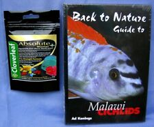 Back to Nature guide Malawi cichlids African fish book & Absolute Wormer  + Plus