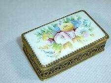 Bote Olor puede Caja aromática con Cubierta de porcelana Francia Limoges para 00
