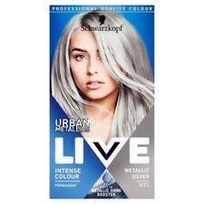4x Schwarzkopf LIVE Colour Urban Metallics U71 Metallic Silver Hair Dye