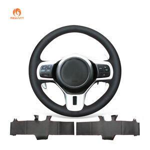 Black PU Leather Car Steering Wheel Cover for Mitsubishi Lancer 10 EVO Evolution