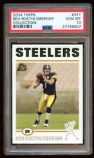 PSA 10 BEN ROETHLISBERGER 2004 TOPPS RC GOLD COLLECTION SP  STEELERS 2X SB QB  !