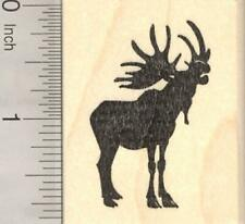 Bull Moose Silhouette Rubber Stamp, Mating Call G20605 WM