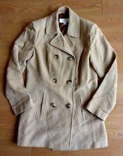 NEXT Double Breasted 100% Cotton Beige Coat Size: UK 8