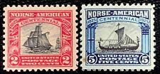 1925 US Stamp SC#620 - 621 Norse-American Set Well Centered