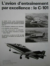 10/1978 PUB AVION CASA C-101 MILITARY TRAINER AIRCRAFT ORIGINAL FRENCH AD