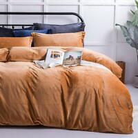 NTBAY Velvet Flannel Duvet Cover Set 3 Pieces Zippered Comforter Cover Set