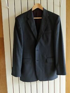 Chester by Chester Barrie Grey 2-Piece Pinstripe Suit. 40 Chest. 34.5 Waist.