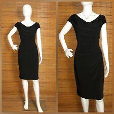 BLACK DRAPE JERSEY SHEATH DRESS like new Can fit M