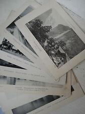 SUISSE 7 PHOTOS PHOTHOTYPIE cabinet BASEL LUZERN INTERLAKEN LAUTERBRUNNEN   1900
