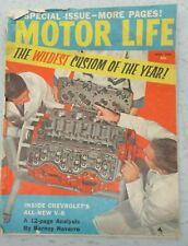 MOTOR LIFE MAGAZINE APRIL 1958 CHEVY V-8 ENGINE DODGE CUSTOM ROYAL 500 AUTO CAR