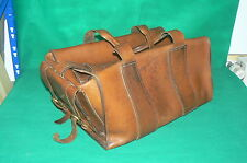 Ancien grand sac sacoche de travail à outils en cuir , vintage retro