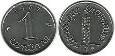 FRANCE FLORE EPI DE BLE EAR OF CORN CINQUIEME REPUBLIQUE ARMOIRIE 1 CENTIME 1967