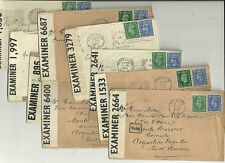 1940s x 9 LONDON AREA COVERS TO ARGENTINA WW2 - OPENED BY EXAMINER CENSOR LABELS