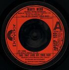 """MARTI WEBB take that look off your face/sheldon bloom POSP 100 1987"""" WS EX/"""