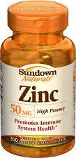 Sundown High Potency Zinc 50 mg Tablets - 100 ct  (3 PACK)