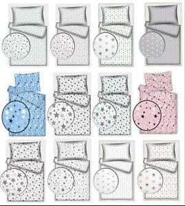 Kinderbettwäsche Stars 100% Baumwolle 40x60 cm + 100x135 cm