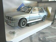 BMW M3 E30 Evo Sport 1986 silber silver grey met Solido Metall SP 1:18
