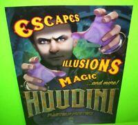 Houdini Master of Mystery Pinball FLYER Original NOS Game Magic Illusion Artwork