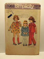 Vintage Simplicity Children's Pattern 7063 Size 6