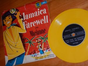 Jamaica Farewell & Marianne 1957 Golden Record, Yellow Vinyl 45 w/picture Sleeve