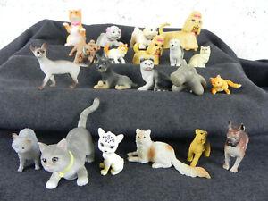 Lotto Cani e Gatti Gioco Giocattoli in plastica Animali Domestici Figure Vintage