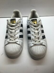 Adidas Superstar White Black Leather Size 7.5 (US) PGD 789006