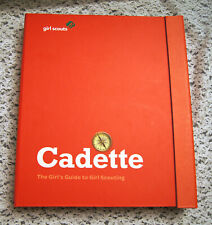 GIRL SCOUT - CADETTE Guide Manual Red Binder