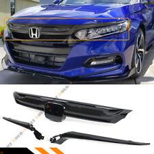 For 2018-2020 10th Gen Honda Accord Sedan JDM Sport Style Grille Glossy Black